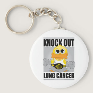 Knock Out Lung Cancer Keychain