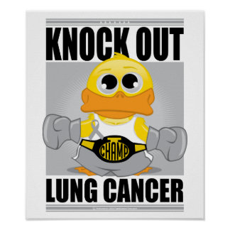 Knock Out Lung Cancer Posters