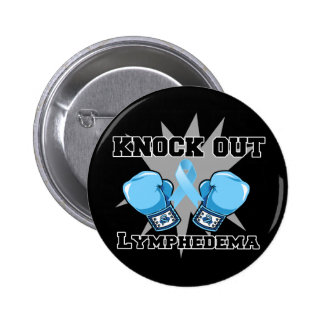 Knock Out Lymphedema Pinback Button