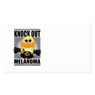 Knock Out Melanoma Business Card Templates