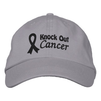 Knock Out Melanoma Cancer Embroidered Hat
