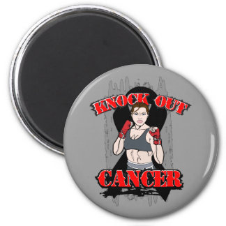 Knock Out Melanoma Cancer Refrigerator Magnet