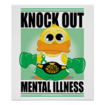 Knock Out Mental Illness Poster