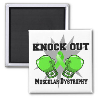 Knock Out Muscular Dystrophy 2 Inch Square Magnet
