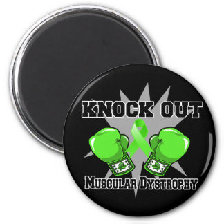 Knock Out Muscular Dystrophy 2 Inch Round Magnet