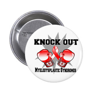 Knock Out Myelodysplastic Syndromes Pinback Button