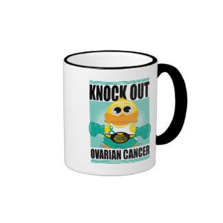 Knock Out Ovarian Cancer Ringer Mug