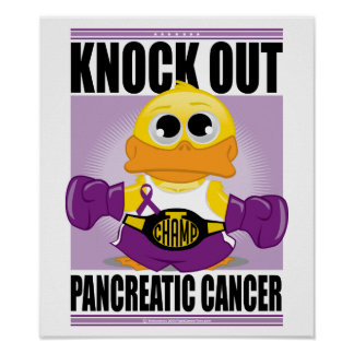 Knock Out Pancreatic Cancer Poster