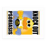 Knock Out Psoriasis Postcard