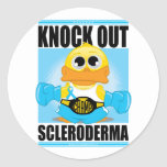 Knock Out Scleroderma Round Sticker