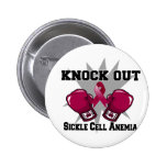 Knock Out Sickle Cell Anemia 2 Inch Round Button