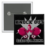 Knock Out Sickle Cell Anemia 2 Inch Square Button
