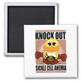 Knock Out Sickle Cell Anemia 2 Inch Square Magnet