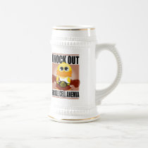 Knock Out Sickle Cell Anemia Beer Stein