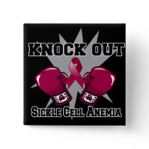 Knock Out Sickle Cell Anemia Pinback Button