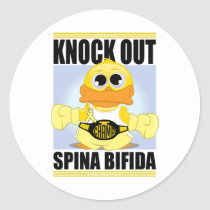Knock Out Spina Bifida Classic Round Sticker