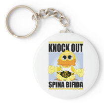 Knock Out Spina Bifida Keychain