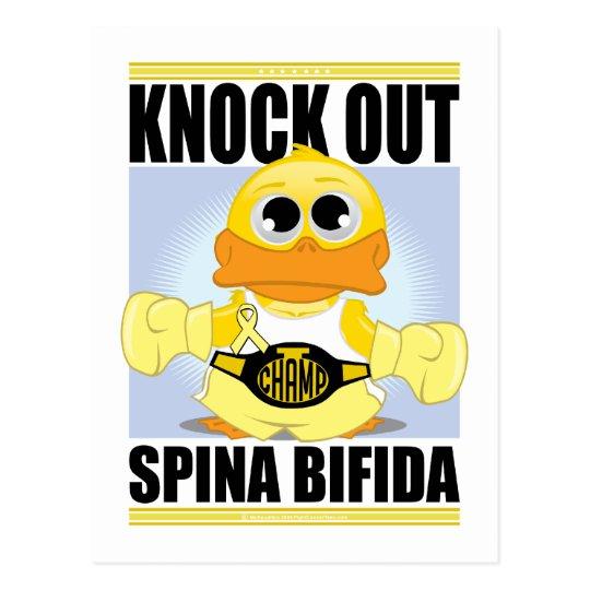 Knock Out Spina Bifida Postcard