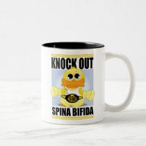 Knock Out Spina Bifida Two-Tone Coffee Mug