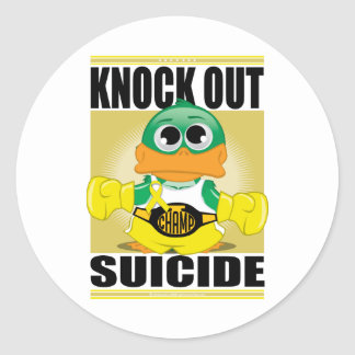 Knock Out Suicide Classic Round Sticker