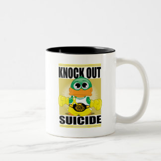 Knock Out Suicide Two-Tone Coffee Mug