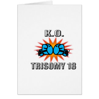 Knock Out Trisomy 18 Greeting Card