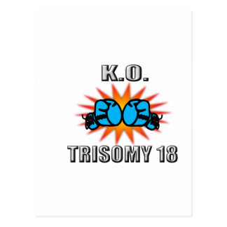 Knock Out Trisomy 18 Postcard