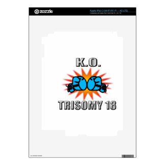 Knock Out Trisomy 18 Decal For iPad 3