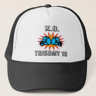 Knock Out Trisomy 18 Trucker Hat