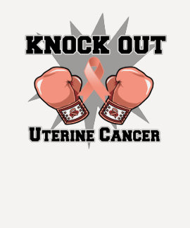 Knock Out Uterine Cancer T-Shirt