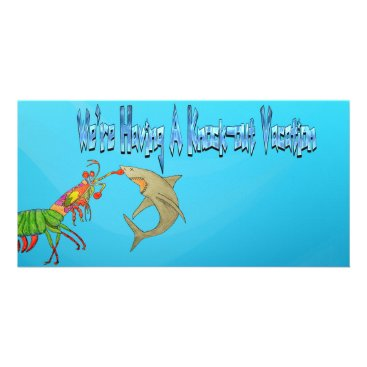 """Beach Themed """"knock-out Vacation"""" Photo Card"""