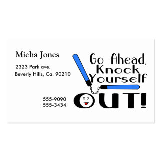 Knock Yourself Out Numchucks Business Card