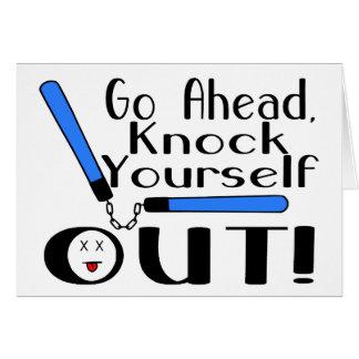 Knock Yourself Out Numchucks Card