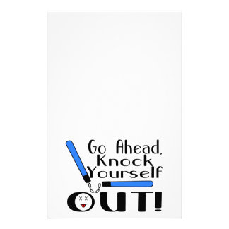 Knock Yourself Out Numchucks Stationery