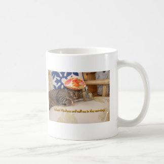 Knocked Out Kitty Coffee Mug