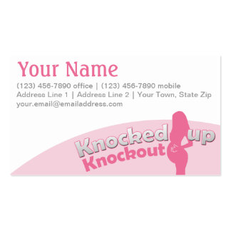 Knocked Up Knockout Baby Shower Mom-to-Be Double-Sided Standard Business Cards (Pack Of 100)