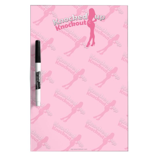 Knocked Up Knockout Baby Shower Mom-to-Be Dry Erase Board