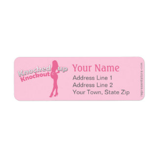 Knocked Up Knockout Baby Shower Mom-to-Be Return Address Label