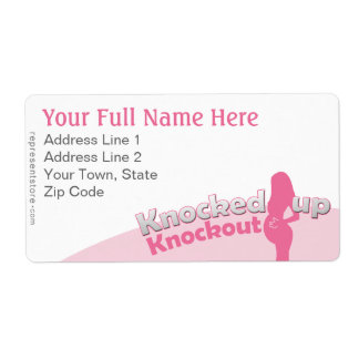 Knocked Up Knockout Baby Shower Mom-to-Be Shipping Labels