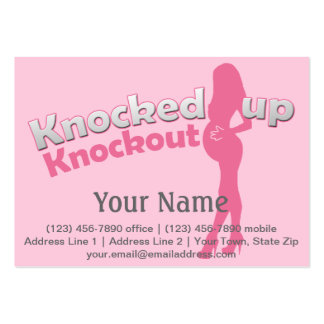 Knocked Up Knockout Baby Shower Mom-to-Be Large Business Cards (Pack Of 100)