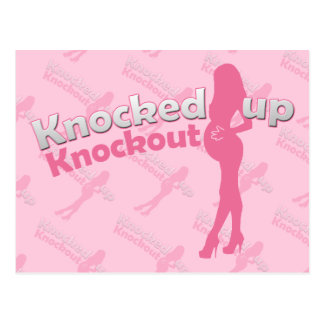 Knocked Up Knockout Baby Shower Mom-to-Be Postcard