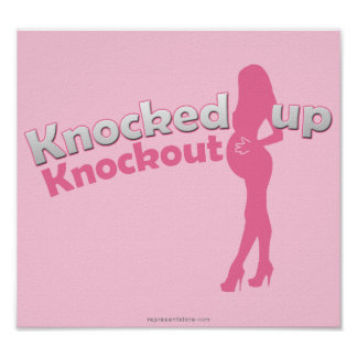 Knocked Up Knockout Baby Shower Mom-to-Be Poster
