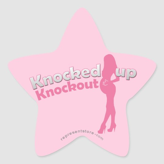 Knocked Up Knockout Baby Shower Mom-to-Be Star Sticker