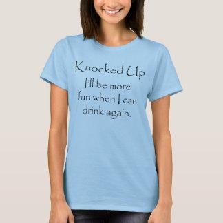 Knocked Up No Alcohol maternity (light) T-Shirt