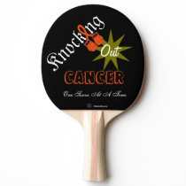 Knocking Out Cancer Paddle - Kidney Cancer Gloves