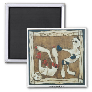 Knockout 2 Inch Square Magnet