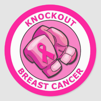 KNOCKOUT BREAST CANCER CLASSIC ROUND STICKER