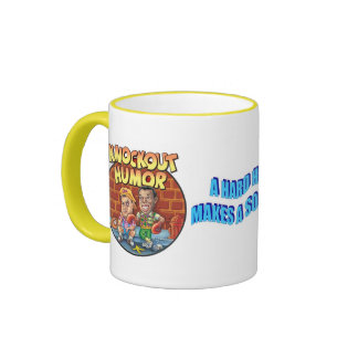 KNOCKOUT HUMOR T-SHIRTS and ACCESSORIES Ringer Coffee Mug