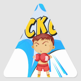 Knockout punch triangle sticker