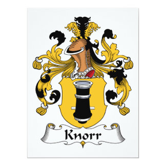 Knorr Family Crest Card